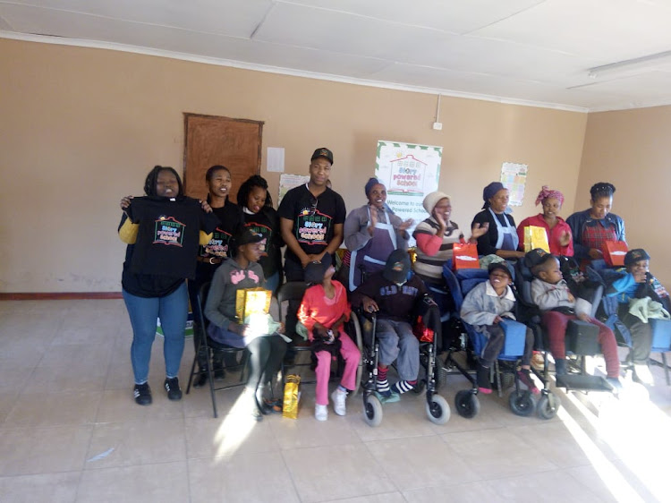 Nompumelelo disabled children spent their Nelson Mandela Day listening to book readings
