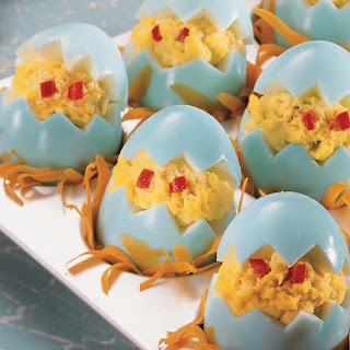 Chicken Little Stuffed Eggs