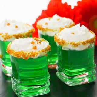 Green Jello Shots.
