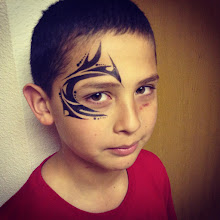 Photo: Tribal face painting by Raelynn, Azusa, Ca. Call to book her today! 888-750-7024