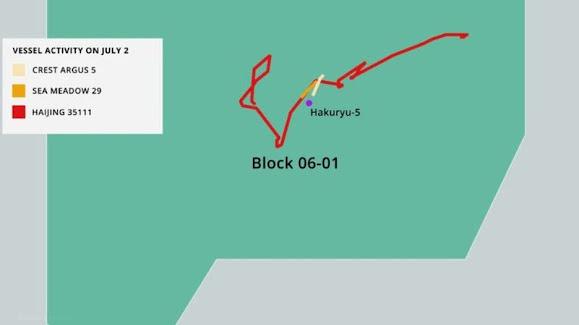Bãi Tư Chính và lô 06-01: Rõ hơn về tàu Trung Quốc 'quấy nhiễu' Việt Nam