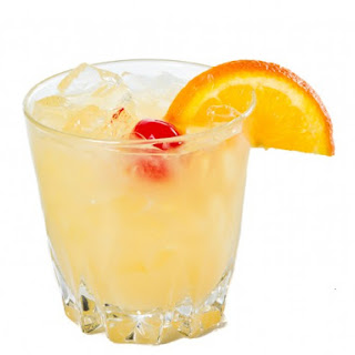Frozen Whiskey Sour Cocktail.