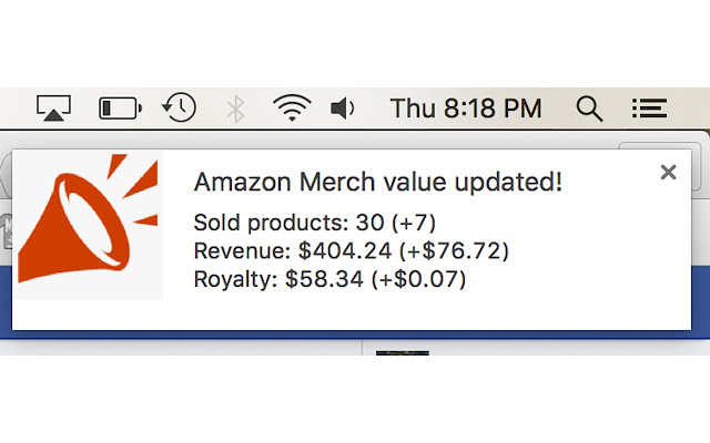 MerchAlerts Notifications for Merch By Amazon