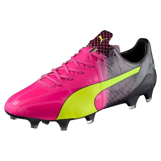 PUMA evoSPEED 1.5 Tricks FG Pink Glo-Safety Yellow-Black Storlek 44