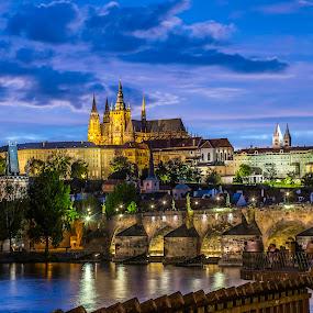 Praha - Hradčany by Milan Pastorek - Buildings & Architecture Public & Historical ( hradčany, blue hour, prague )