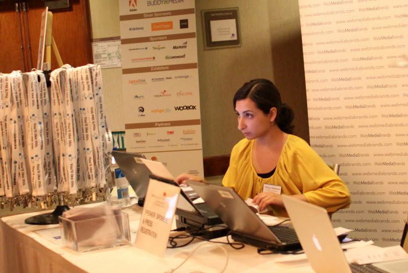 Photo: Chiara at the registration booth
