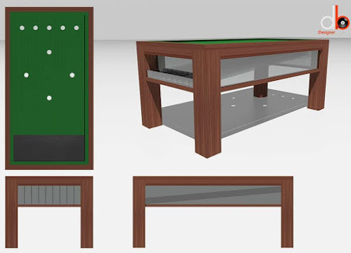 Concept Design for Modern Bar Billiards Table