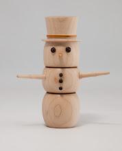 "Photo: BRENT CLAYTON – 1.75"" x 5"" Snowman [Maple]"