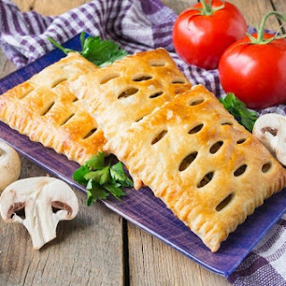 Chicken and Mushroom in a Puff Pastry Shell.