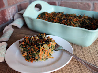 Savory Spinach Carrot Mushroom Kugel Or Appetizer Recipe