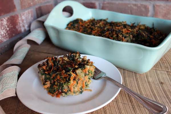 Savory Spinach Carrot Mushroom Kugel Or Appetizer
