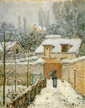 "Photo: Alfred Sisley, ""Neve a Louveciennes"" (1894)"