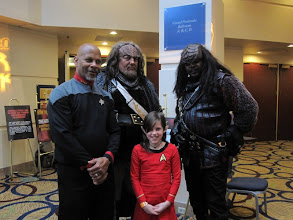 Photo: DS9, Vulcan kiddo & Klingon heavies