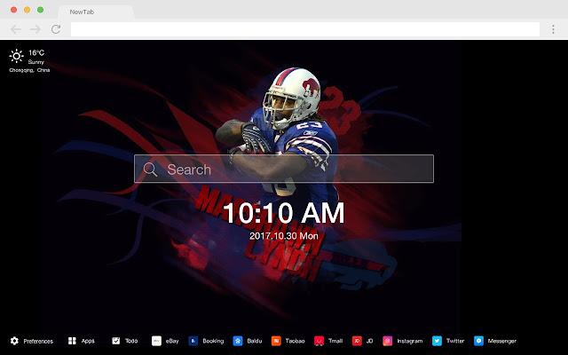 Buffalo Bills Popular NFL HD New Tabs Themes