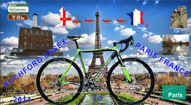 Team Argon riding from Rochford to Paris in aid of Marfan Trust