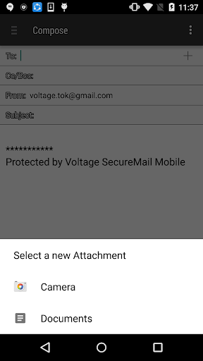 Voltage SecureMail Screenshot