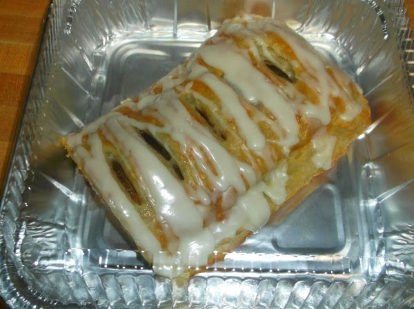 Slowly drizzle icing over strudel. Serve. Cover leftovers. Store on counter for up to...
