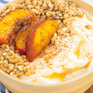 Grilled Peach Caramel Yogurt Bowl Recipe