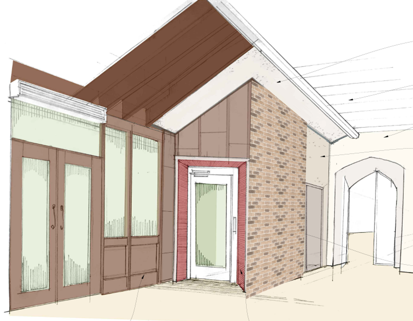 "Caption: Design of Foyer with entrance to lift and ""Wall of Scripture"" from your giving through Buy-A-Brick"