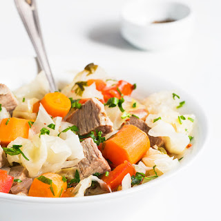 Slow Cooker Beef and Cabbage Stew.
