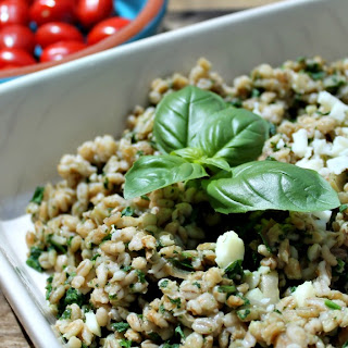 Slow Cooker Spinach and Halloumi Pearl Barley Risotto Recipe