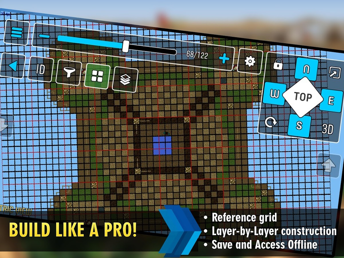 Mcproapp build companion blueprints for minecraft for Minecraft blueprint maker app
