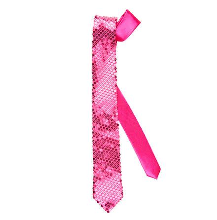 Slips, rosa paljetter