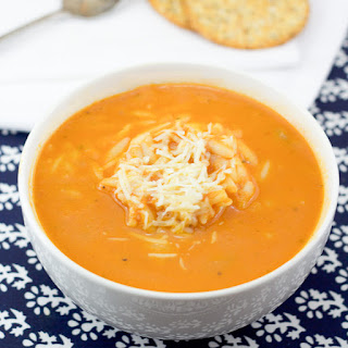 Tomato Soup With Orzo or Domatosoupa Me Kritharaki