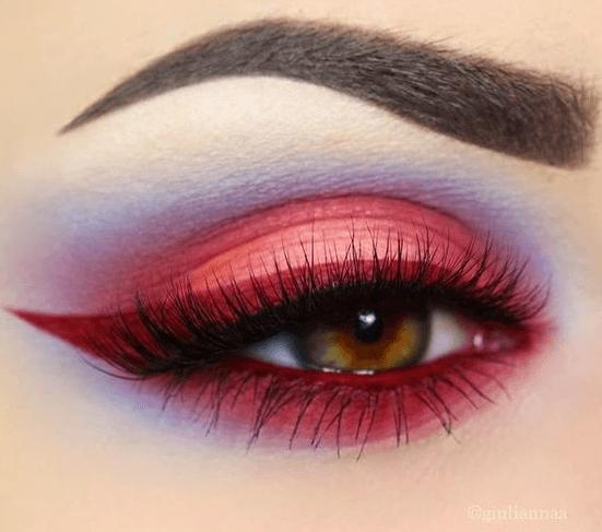 Bold red eyeliner