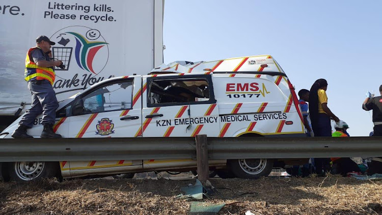The scene of the crash on the N3 near Cedara