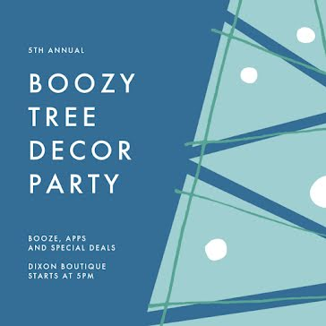 Boozy Tree Decor Party - Christmas Template
