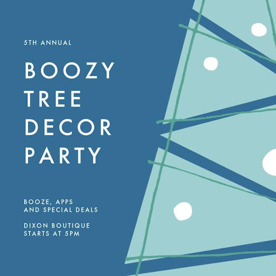 Boozy Tree Decor Party - Christmas Template