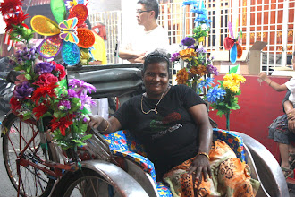 Photo: Year 2 Day 108 - This Rickshaw Carried a Generator to Keep One of the Smaller Floats Lit Up