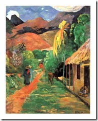 Gauguin - Street in Tahiti