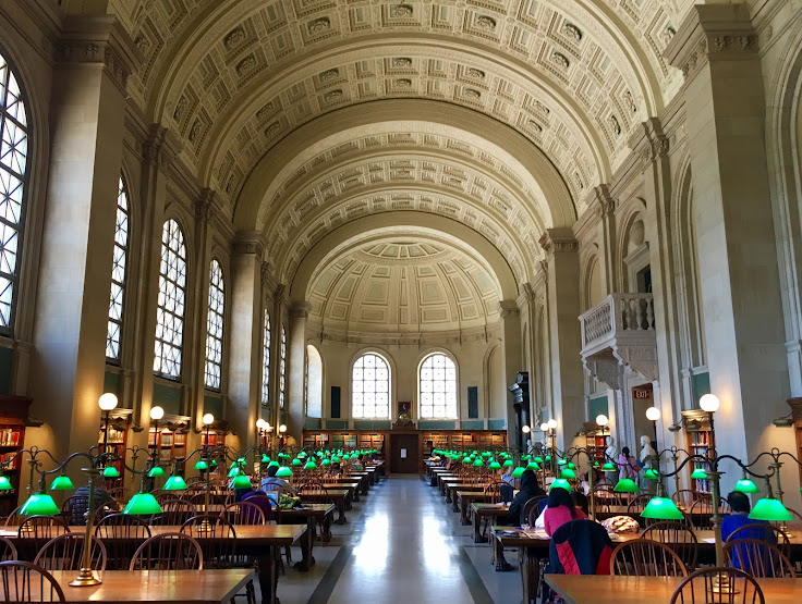 Bates Hall at the Boston Public Library.