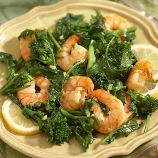 Baby Broccoli and Shrimp Saute.