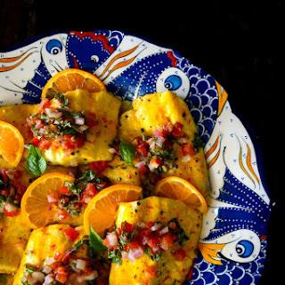 Saffron-Orange Whitefish Recipe with Tomato-Basil Salsa