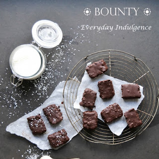 Homemade Bounty with a Dark and Rich Chocolate Coating & Creamy Coconut filling