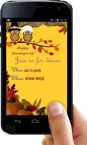 android Thanksgiving Invitation Letter Screenshot 4