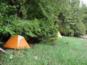 Photo: Campsite near un-named creek on Grenville Channel.