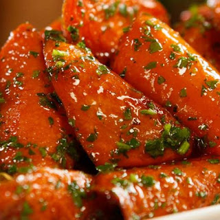 Roasted Glazed Carrots.