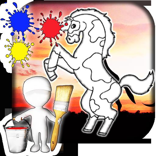 Horse Coloring Book 遊戲 App LOGO-APP開箱王