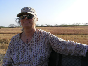 Photo: Aline enjoying the warmth of the afternoon and the wildlife