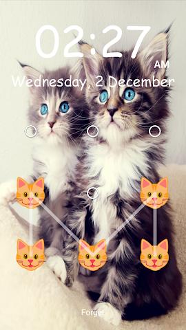 android Kitty Pattern Lock- Screenshot 3