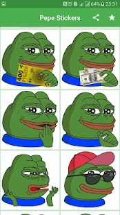 Pepe Stickers For Messenger And Chat : Pepely - náhled