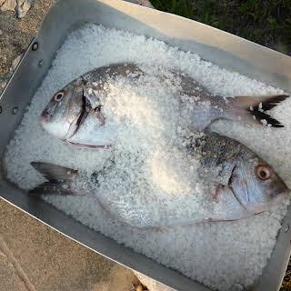 Sea Bream Cooked in Salt.
