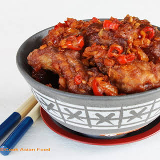Chinese Spare Ribs in Szechuan Sauce.