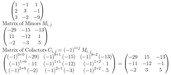 method to find cofactors