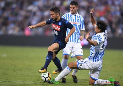 Napoli wint op de valreep met 2-3 van promovendus Spal