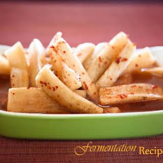 Fermented Spicy Daikon Radish Spears.